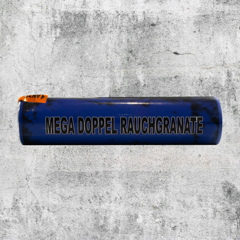 Mega Doppelrauch Granate blau