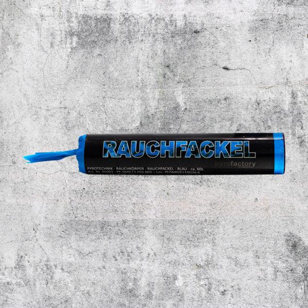 Rauchfackel blau